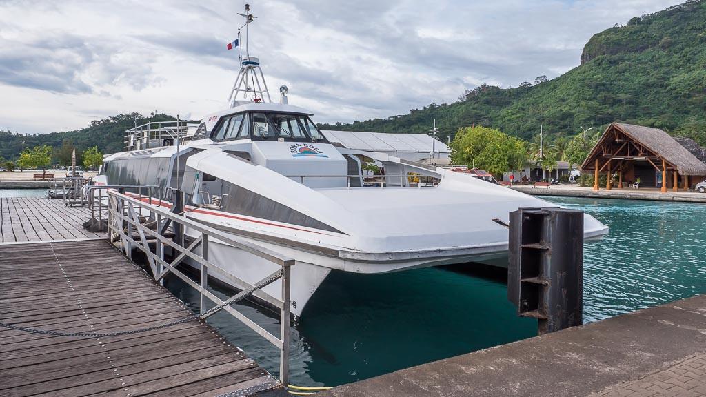 Bora Bora Flughafen Transfer Boot