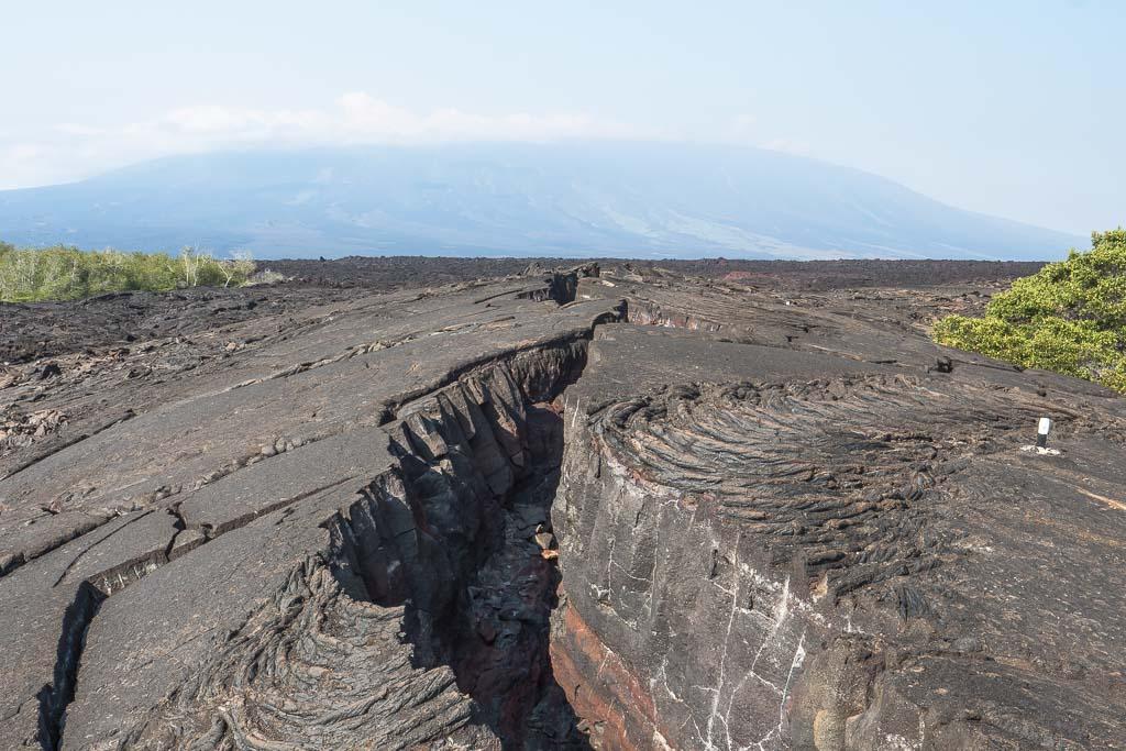 Lava Natur auf den Galapagos Insel