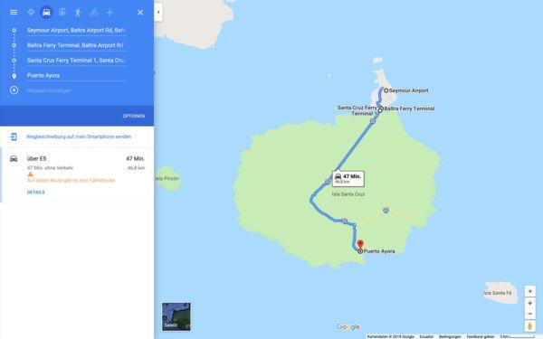 Transfer Baltra Puerto Ayora Santa Cruz