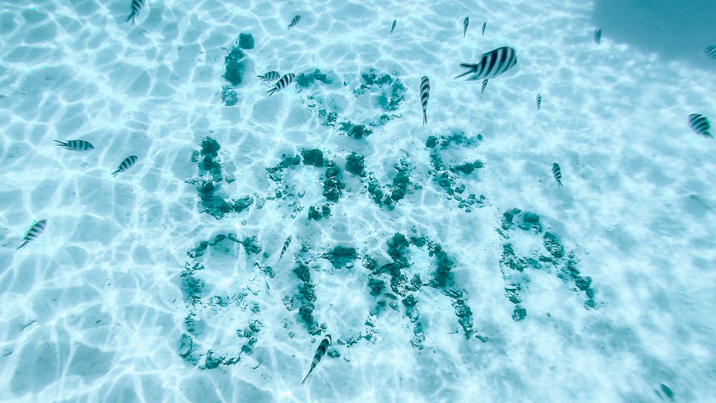 I Love Bora Bora Unterwasser
