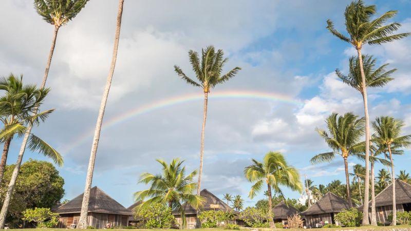 Bora Bora Matira Beach Regenbogen