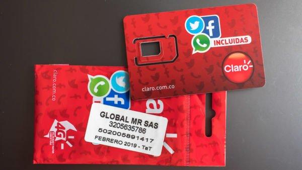 Lokale SIM-Karte im Kolumbien für mobiles Internet