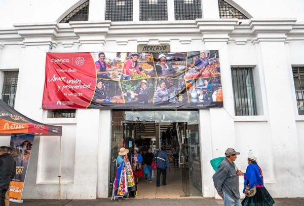 Bargeld Markt Ecuador Cuenca