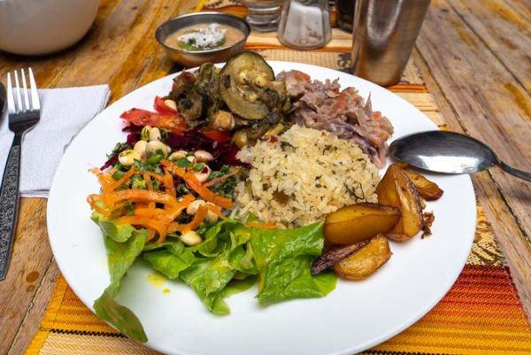 Mittagsmenü Vegan Ecuador
