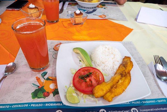 einfaches Mitaggessen Ecuador
