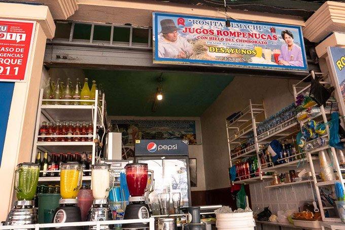 Markt Ecuador Säfte