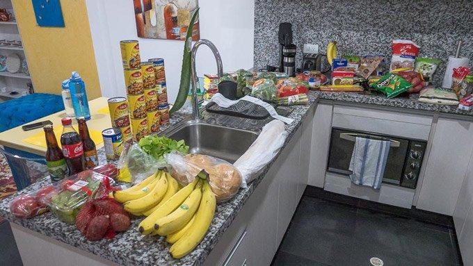 Supermarkteinkauf Vegan Ecuador