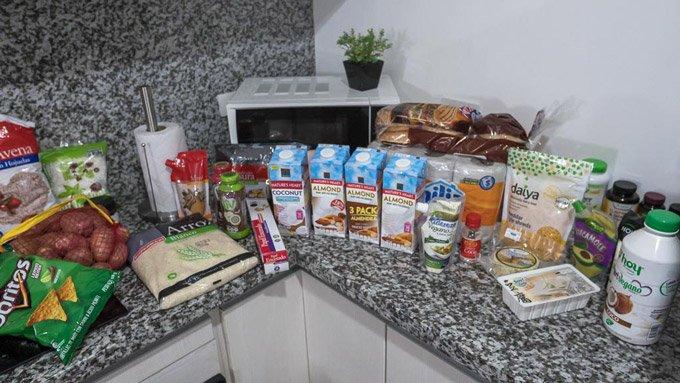 veganer Supermarkteinkauf Ecuador