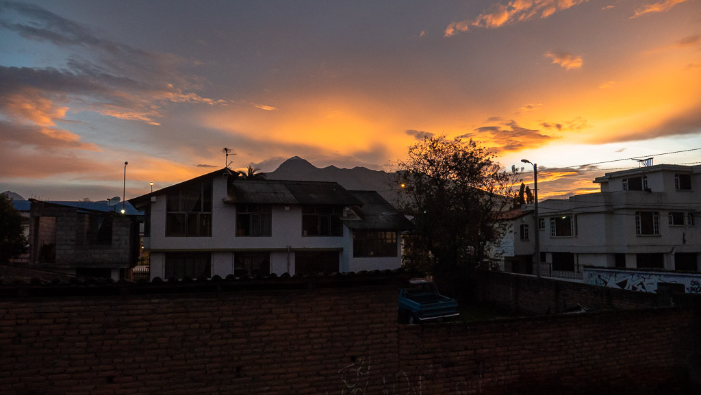 Casa Sakiwa Machachi Cotopaxi Hotel Sonnenuntergang Aussicht