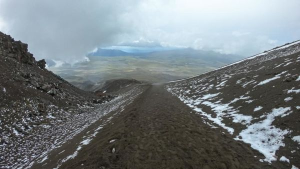 Abstieg Cotopaxi Vulkan
