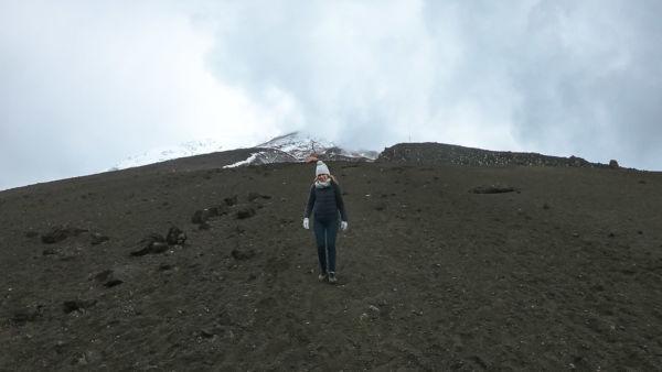 gerader Weg Cotopaxi Vulkan Wanderung