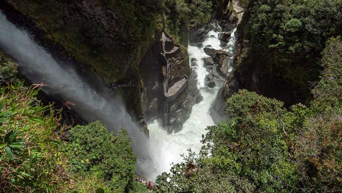 Pailon Del Diablo Wasserfall Banos Ecuador Reisetipps