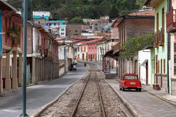 Alausi ruhige Stadt Ecuador