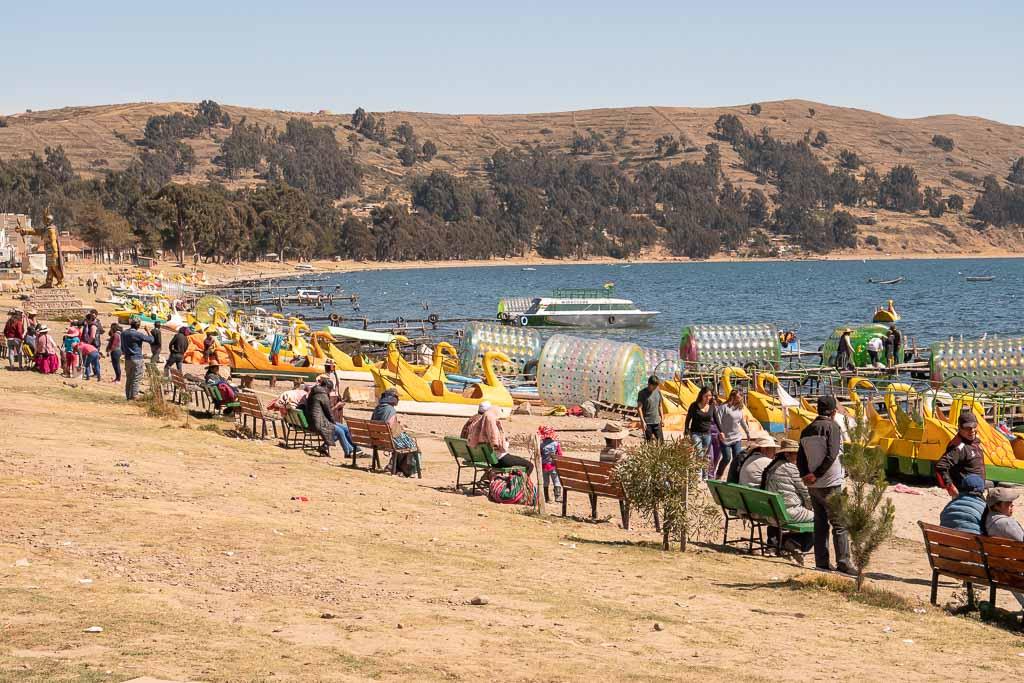 Wassersport Aktivitäten Copacabana Bolivien