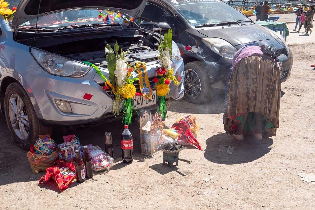 Auto Weihe Copacabana in Bolivien
