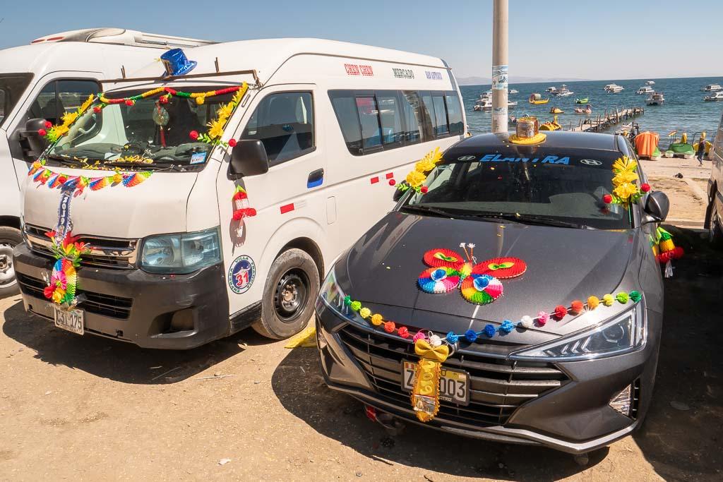 Auto Zeremonie Copacabana Bolivien