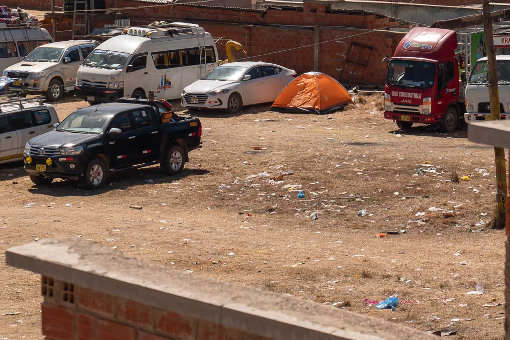 Müll egal wohin man sieht in Copacabana Bolivien