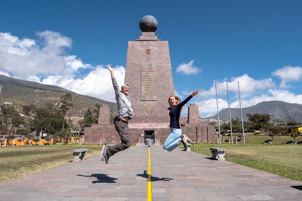 Äquator Denkmal Ecuador Route