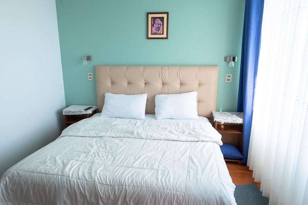 Bett im Hotel Lago Azul Copacabana