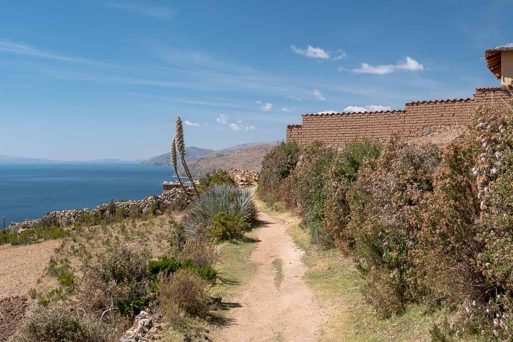Wanderung Isla del Sol Titicacasee Bolivien