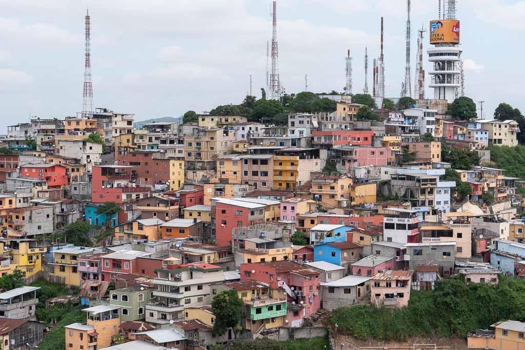 Aussicht Santa Ana Hügel Las Penas Guayaquil