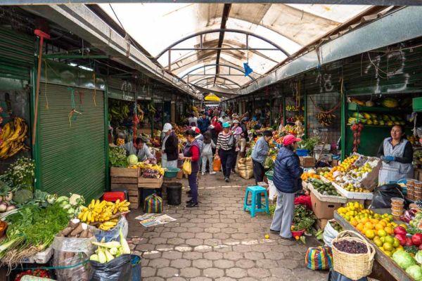 Machachi Markt Ecuador Reise