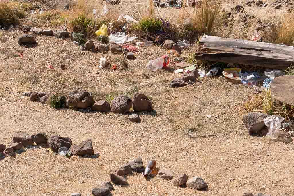 heiliger Berg Cerro Calvario Müll