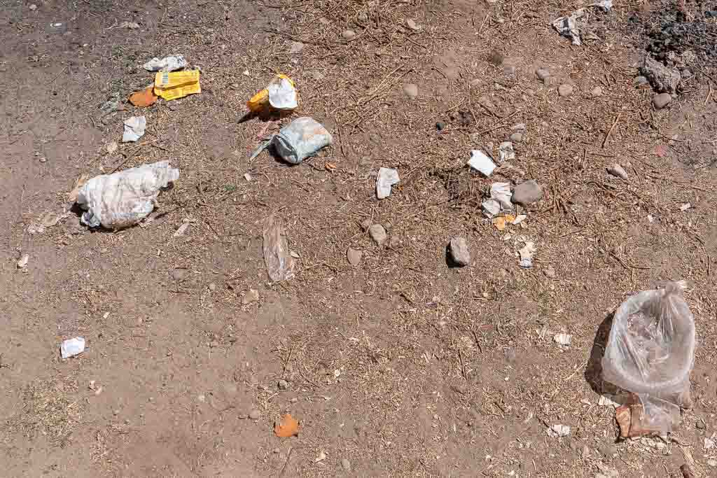 Copacabana Bolivien Müll