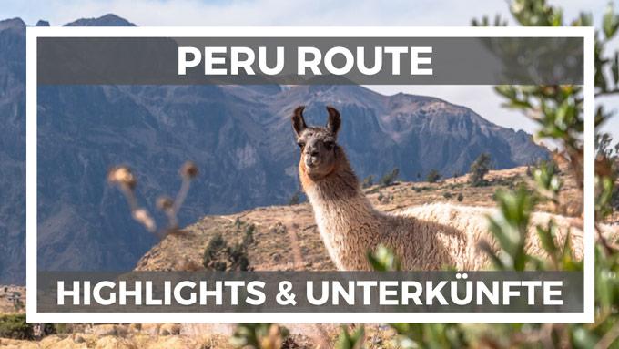 Reiseroute Peru Rundreise planen