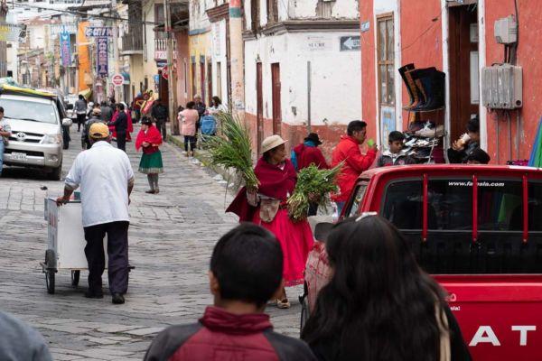 Sonntagsmarkt Alausi Ecuador