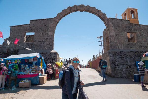 Grenze Peru Bolivien zu Fuß überqueren