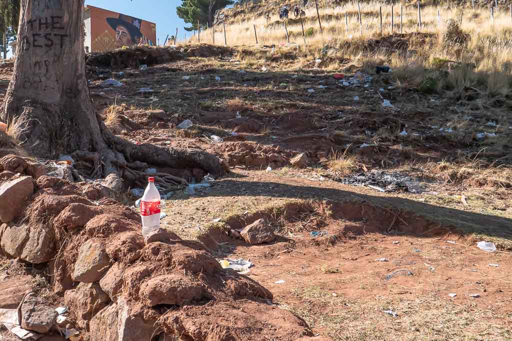 Copacabana Bolivien viel Müll