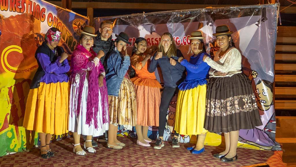 La Paz Bolivien Cholitas Wrestling Show