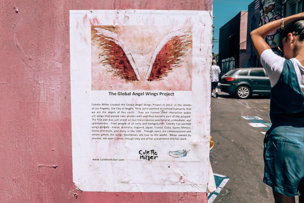 Melrose Avenue Colette Miller Angel Wings Project Los Angeles