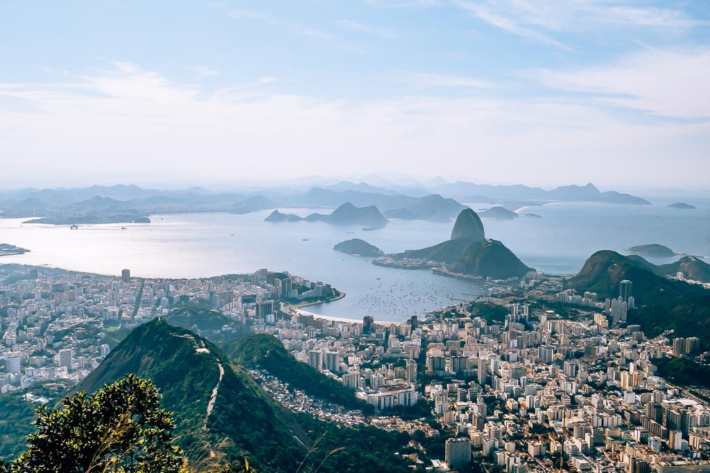 Aussicht Corcovado Christus Statue Rio de Janeiro