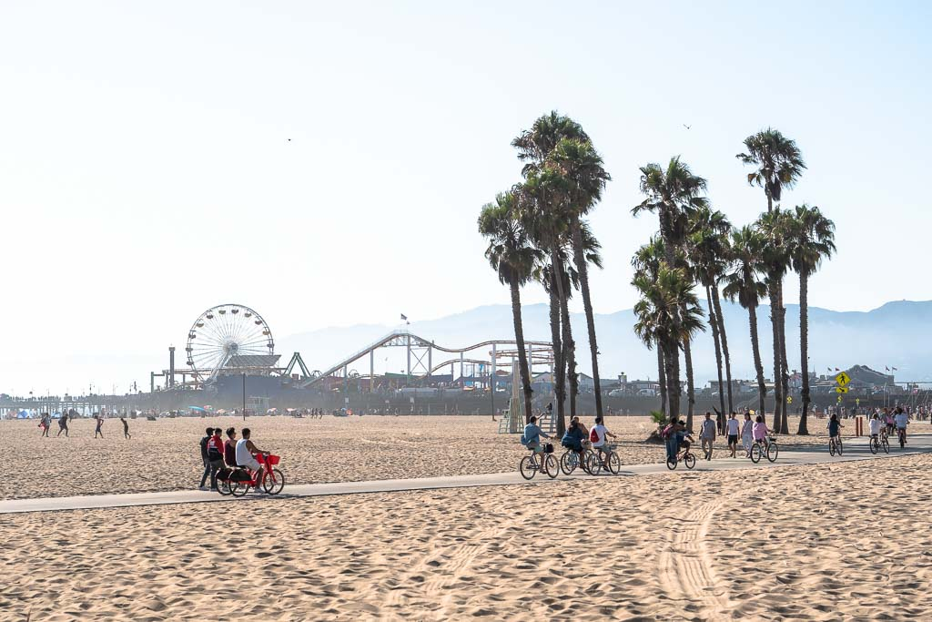 Santa Monica Beach Los Angeles und Santa Monica Pier