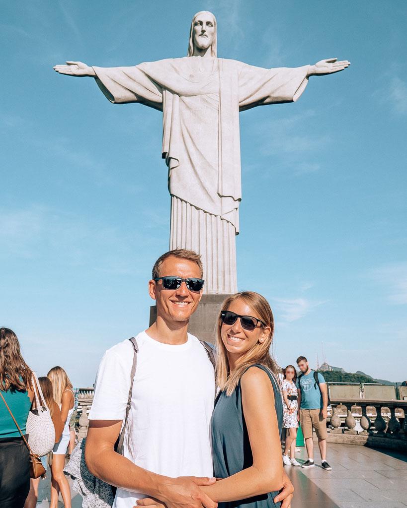 Rio de Janeiro Foto vor der Christus Statue