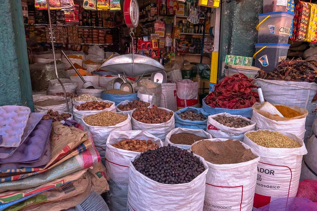 La Paz Markt Gewürze
