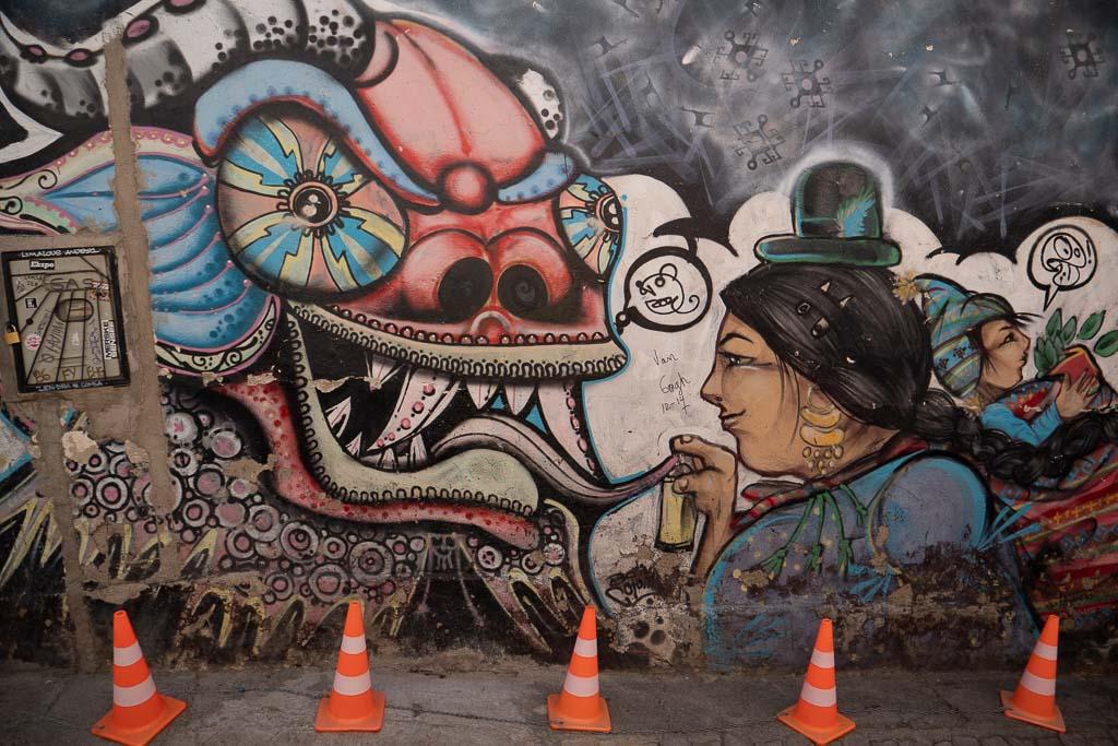 La Paz Graffiti Hexenmarkt