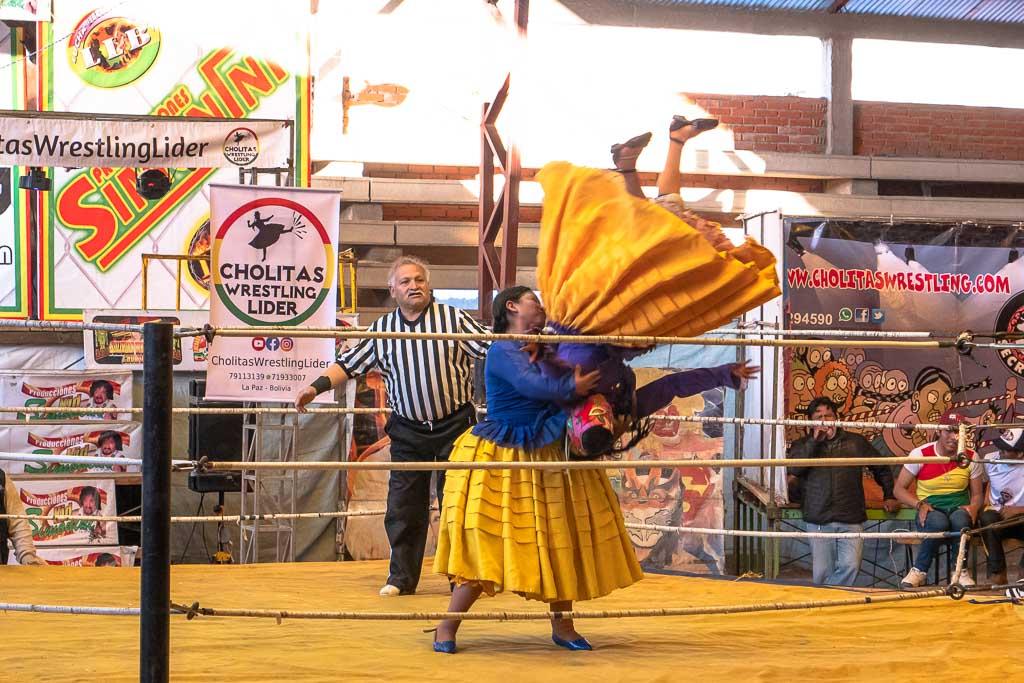 La Paz Sehenswürdigkeit Cholitas Wrestling Show