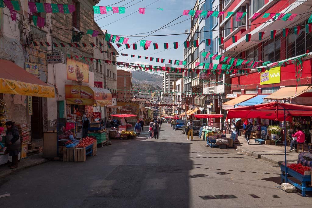 La Paz Bolivien Markt Straße