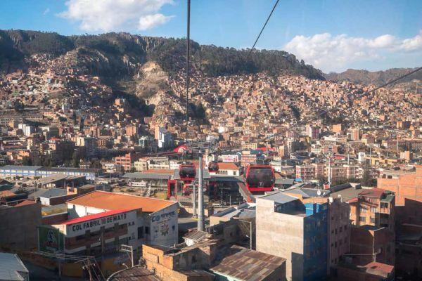 Mi Teleferico Seilbahn Aussicht La Paz Sehenswürdigkeit