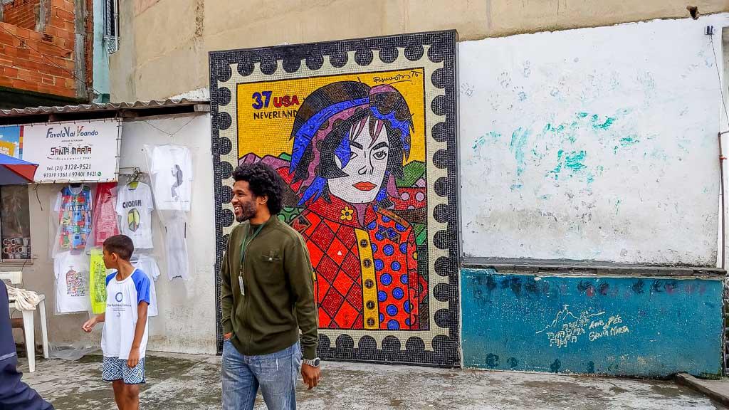 Michael Jackson Bild Santa Marta Favela Rio de Janeiro