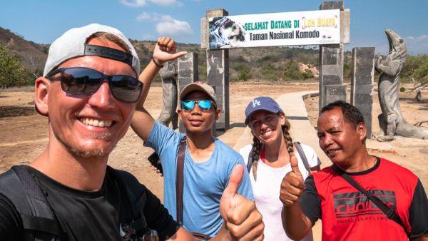 Rinca Island Loh Buya Eingang