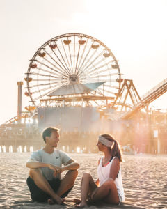 goldene Stunde Santa Monica Beach Pier