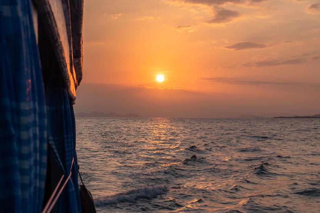 Komodo Nationalpark Tour Sonnenuntergang