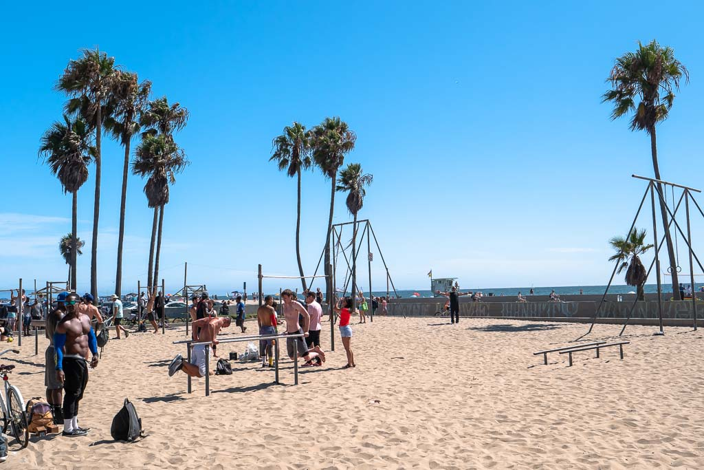 Sportler Muscle Beach Venice Los Angeles