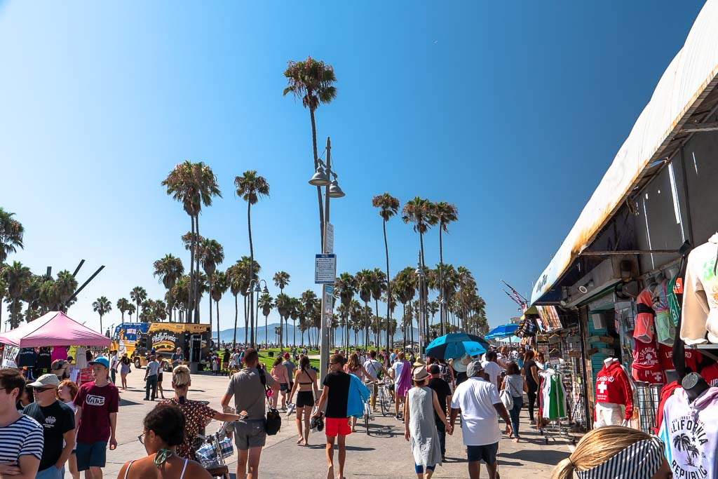 Der Venice Beach Boardwalk