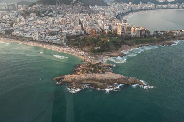 Sonnenuntergang Arpoador Rock Sunset Spot Rio de Janeiro Sehenswürdigkeit