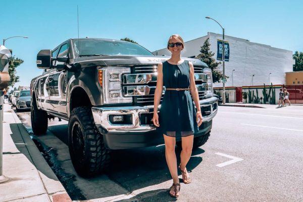 Los Angeles großer Pickup Truck